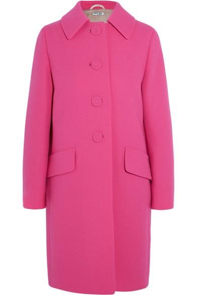 Wool-crepe coat