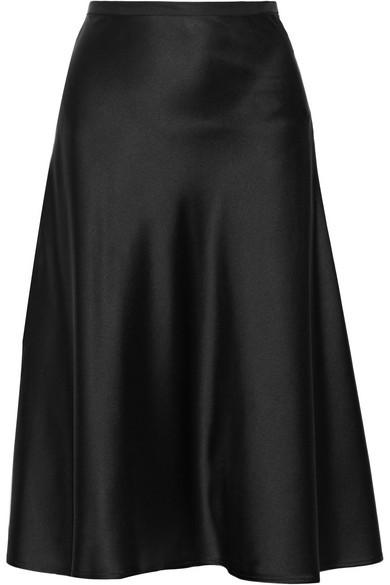 Silk-charmeuse skirt