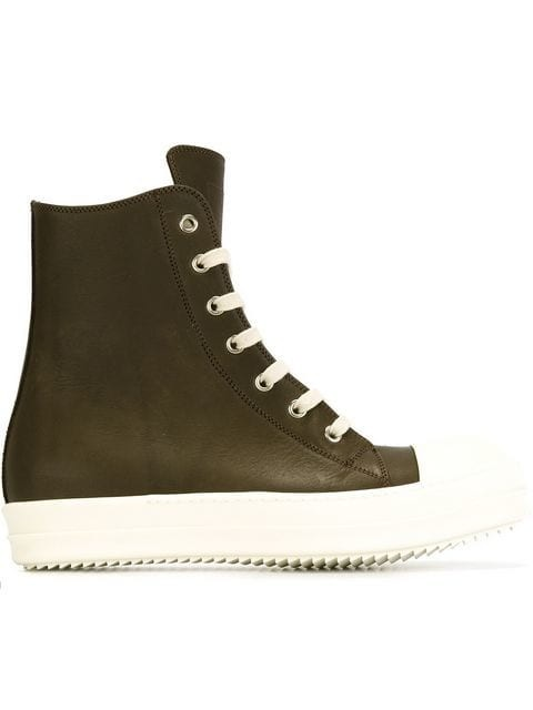 side zip hi-top sneakers