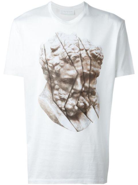 statue print T-shirt