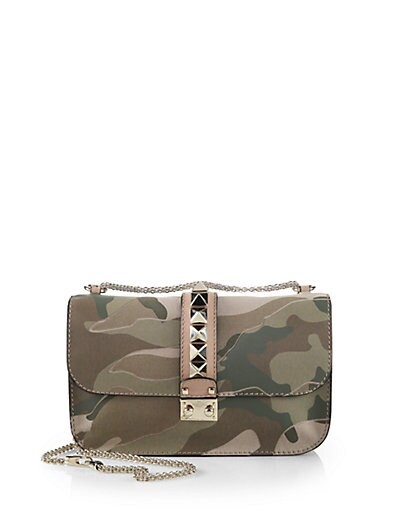Camouflage Classic Rockstud Medium Shoulder Bag