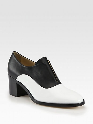 Patent Leather & Leather Laceless Oxfords