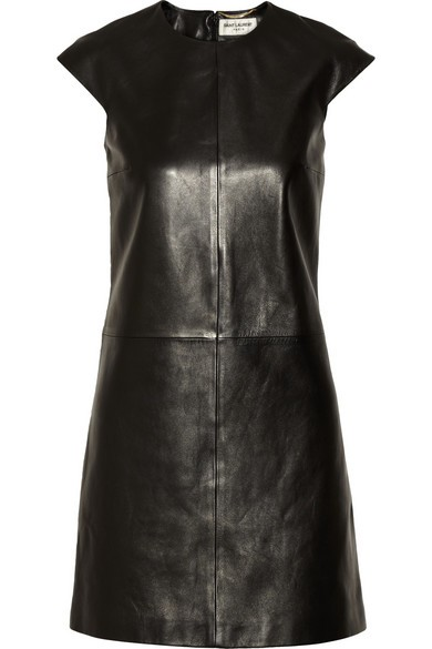 Classic Plonge leather dress