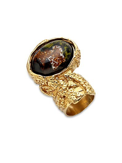 Goldtone Arty Ovale Ring