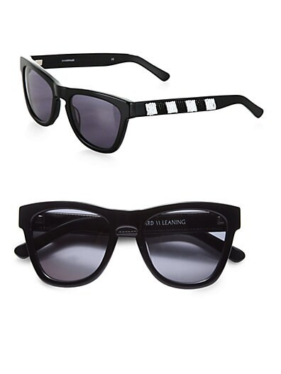 Love Thy Neighbor Beaded Acetate Square Sunglasses