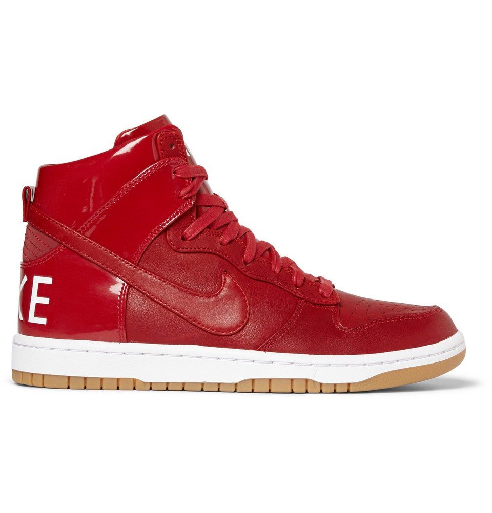 Dunk TZ High-Top Sneakers Red