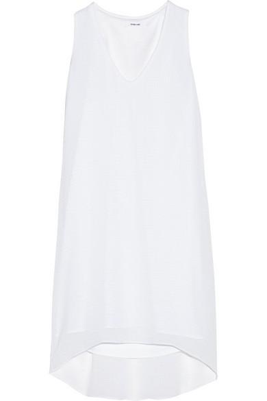 Crinkled-gauze dress