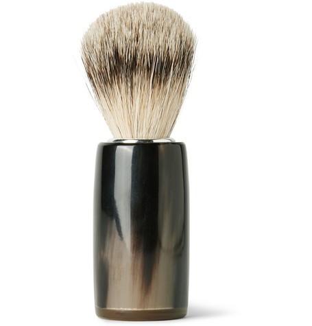 Horn and Super Badger Bristle Shaving Brush