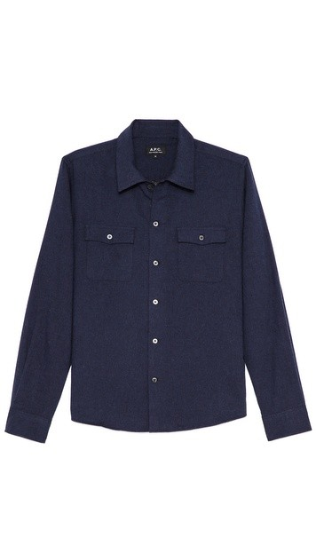 Cotton Flannel 2 Pocket Sport Shirt