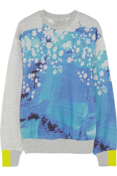 Splash printed cotton sweatshirt