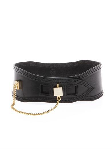 Cube-chain waist belt