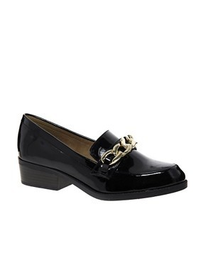New Look Jaxson 2 Black Chain Loafer Shoes