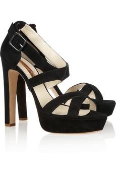 Marquita multi-strap suede sandals