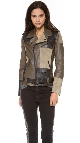 Thomas Lelu Patchwork Biker Jacket