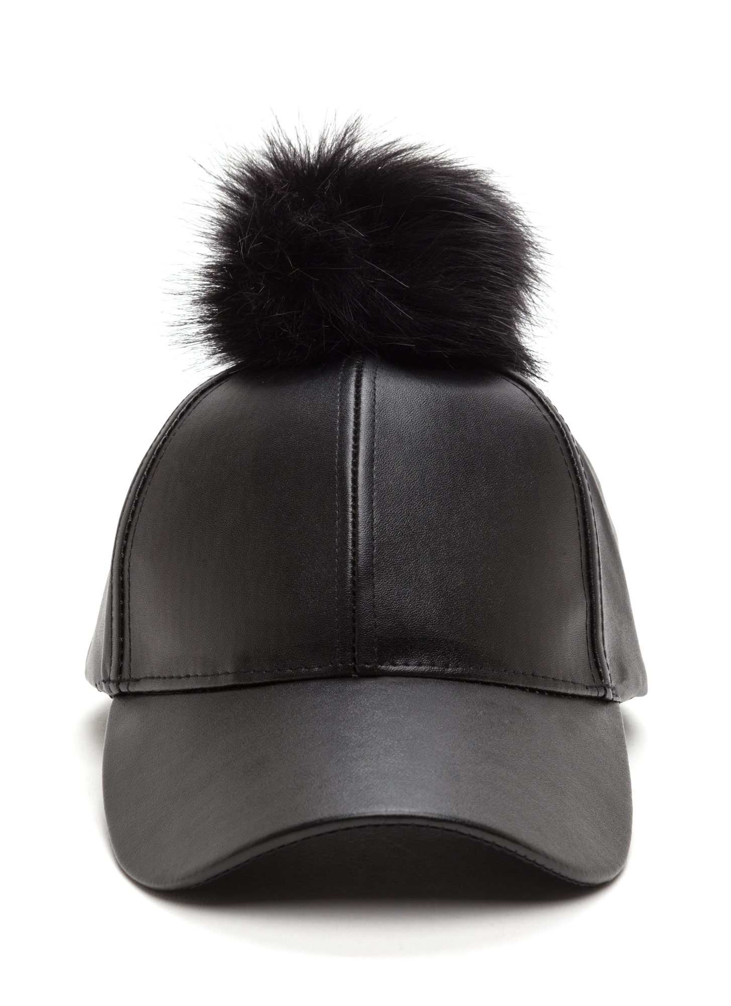 Up The Fluff Faux Leather Hat