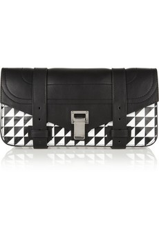 The PS1 printed leather clutch