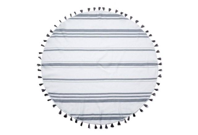 Sophia Round Beach Blanket, Gray