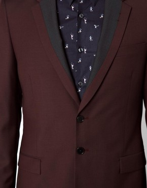 PS Paul Smith Suit Jacket with Contrast Lapel