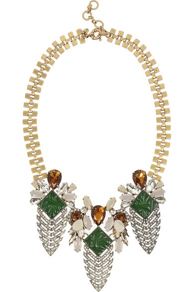 Arrowhead gold-tone crystal and cubic zirconia necklace