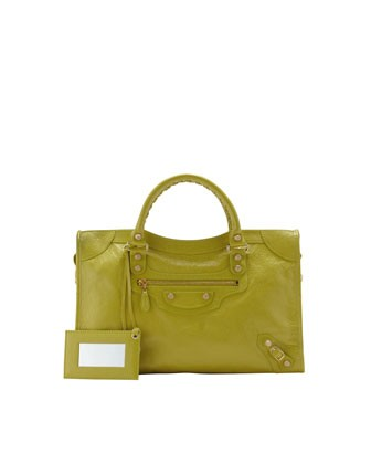 Giant 12 Golden City Bag, Jaune Poussin - Balenciaga
