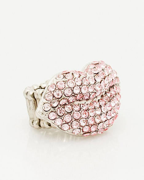 Le Chateau - Gem Encrusted Kiss Icon Ring
