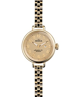 Shinola Gold-Tone Birdy Watch, 34mm