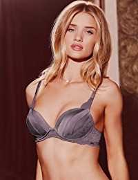 Rosie for Autograph Silk Padded Plunge A-E Bra with French Designed Rose LaceRosie for Autograph Sil