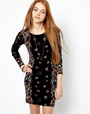 Pepe Jeans London Floral Body-Conscious Dress