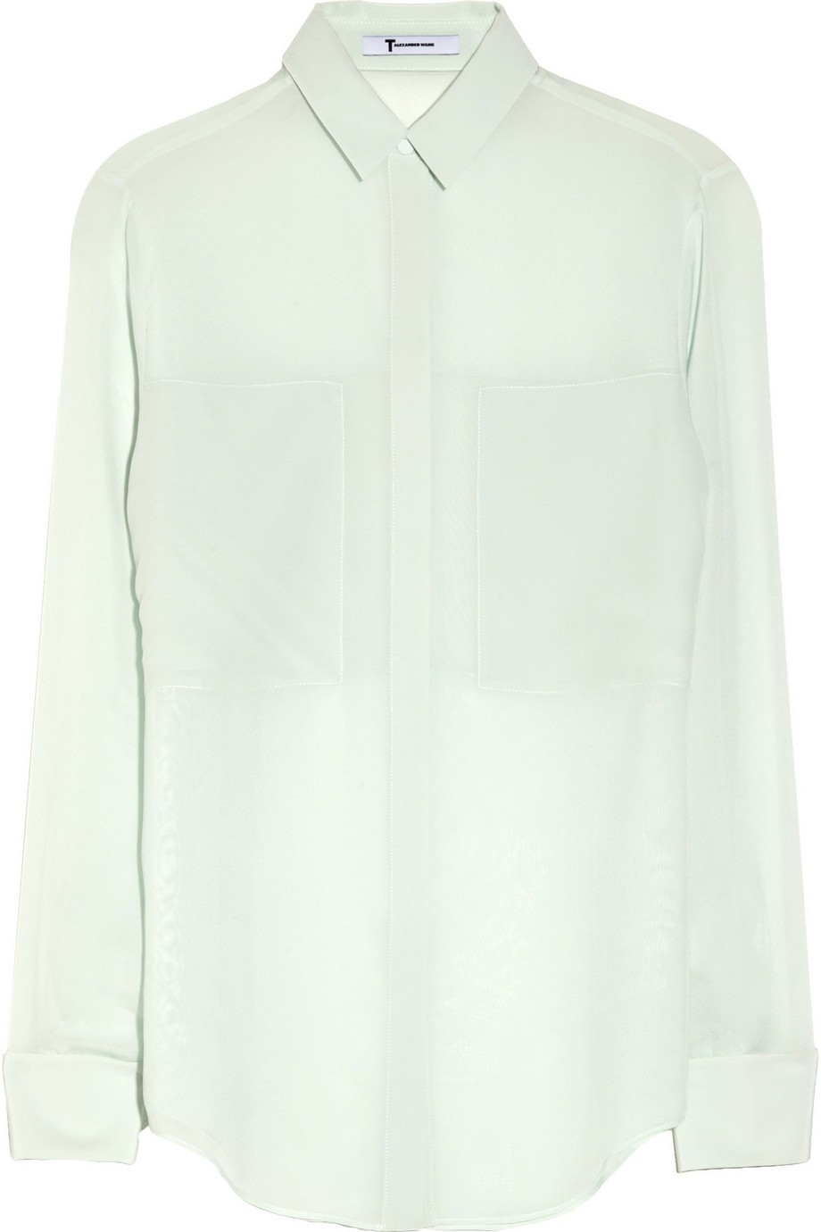 Paneled silk blouse