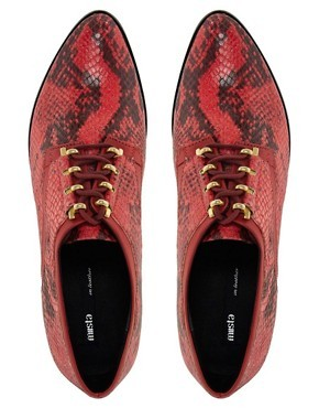 Miista Perla Leather Brogue Shoe