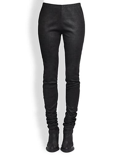 Leather Silk Leggings