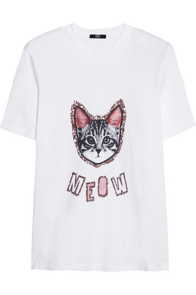 Meow Alex printed cotton-jersey T-shirt
