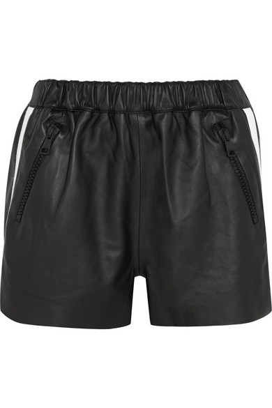 Maia leather shorts