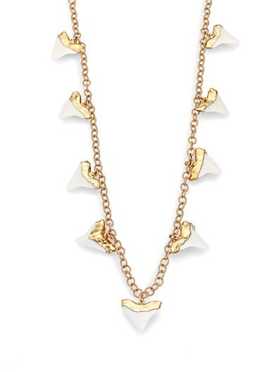 Shark Tooth Chain Link Necklace
