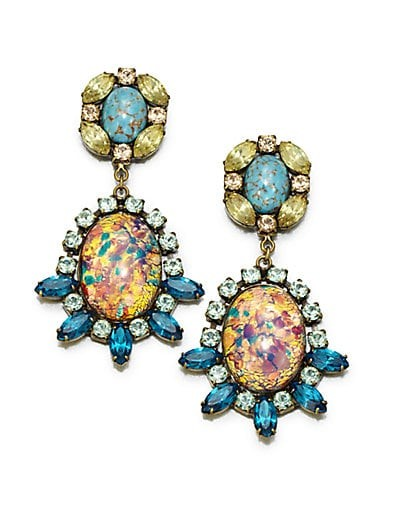 Paz Mottled Drop Earrings