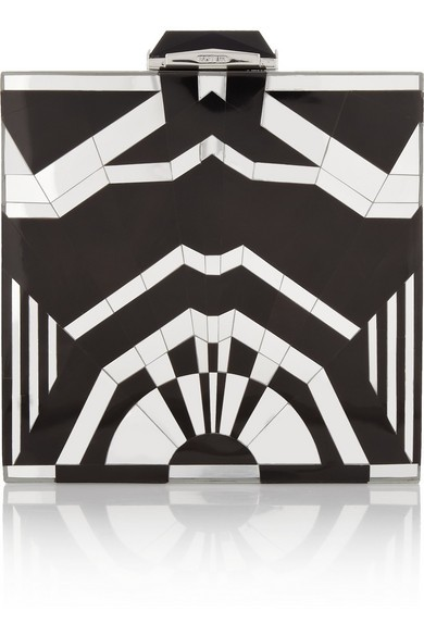 Rockefeller mirrored shell clutch