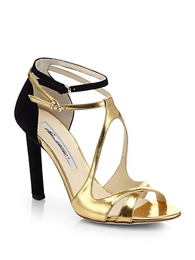 Hester Metallic Leather & Suede Sandals