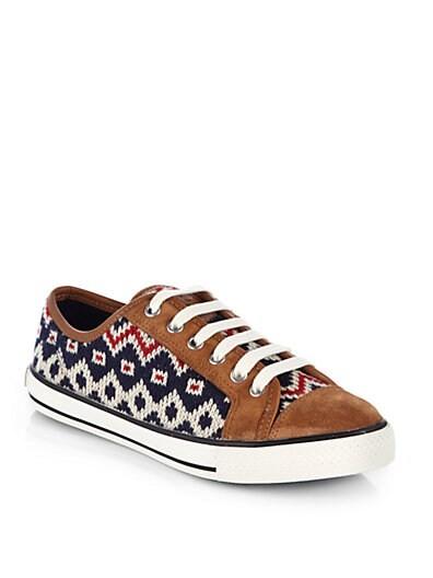 Noah Fair Isle Knit Sneakers
