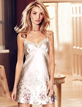 Rosie for Autograph Pure Silk Chemise with French Designed Rose Lace
