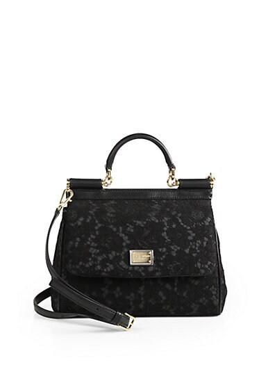 Sicily Embroidered Lace Satchel