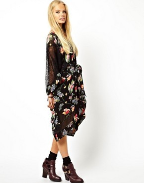 ASOS Lace And Floral Kimono Dress