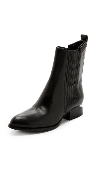 Anouck Chelsea Booties with Rhodium Plate