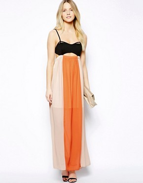 Jovonnista Toni Maxi Dress with Cut-Out Detail