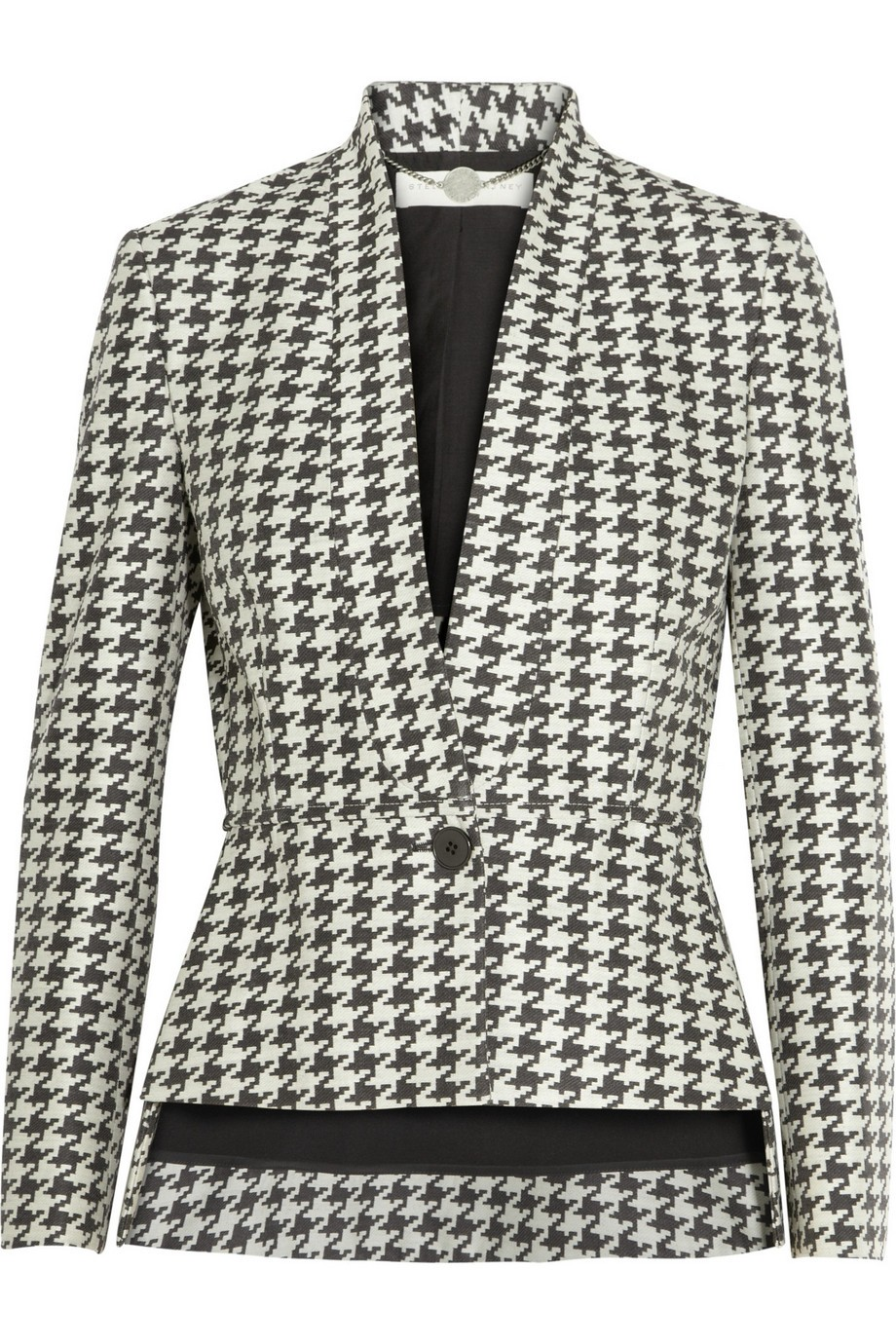 Houndstooth twill jacket