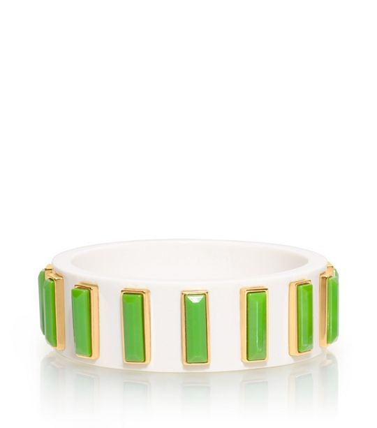 Dotty Bangle With Rectangle Stones