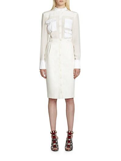 Ramona Button-Front Dress