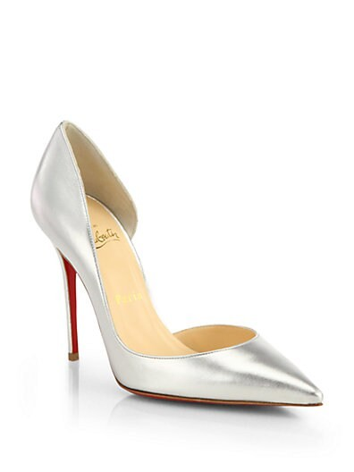 Iriza Metallic Leather d'Orsay Pumps