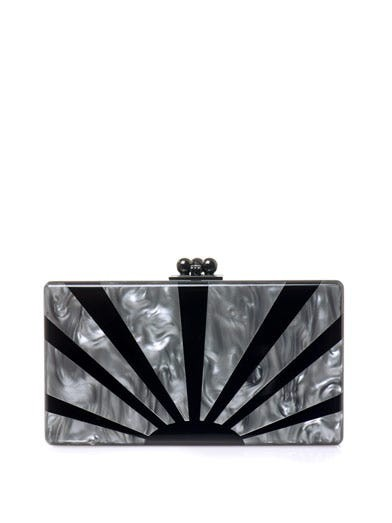Jean sunburst box clutch