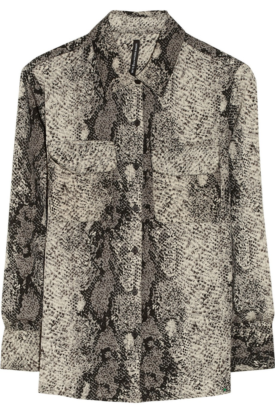 Raquel snake-print satin shirt