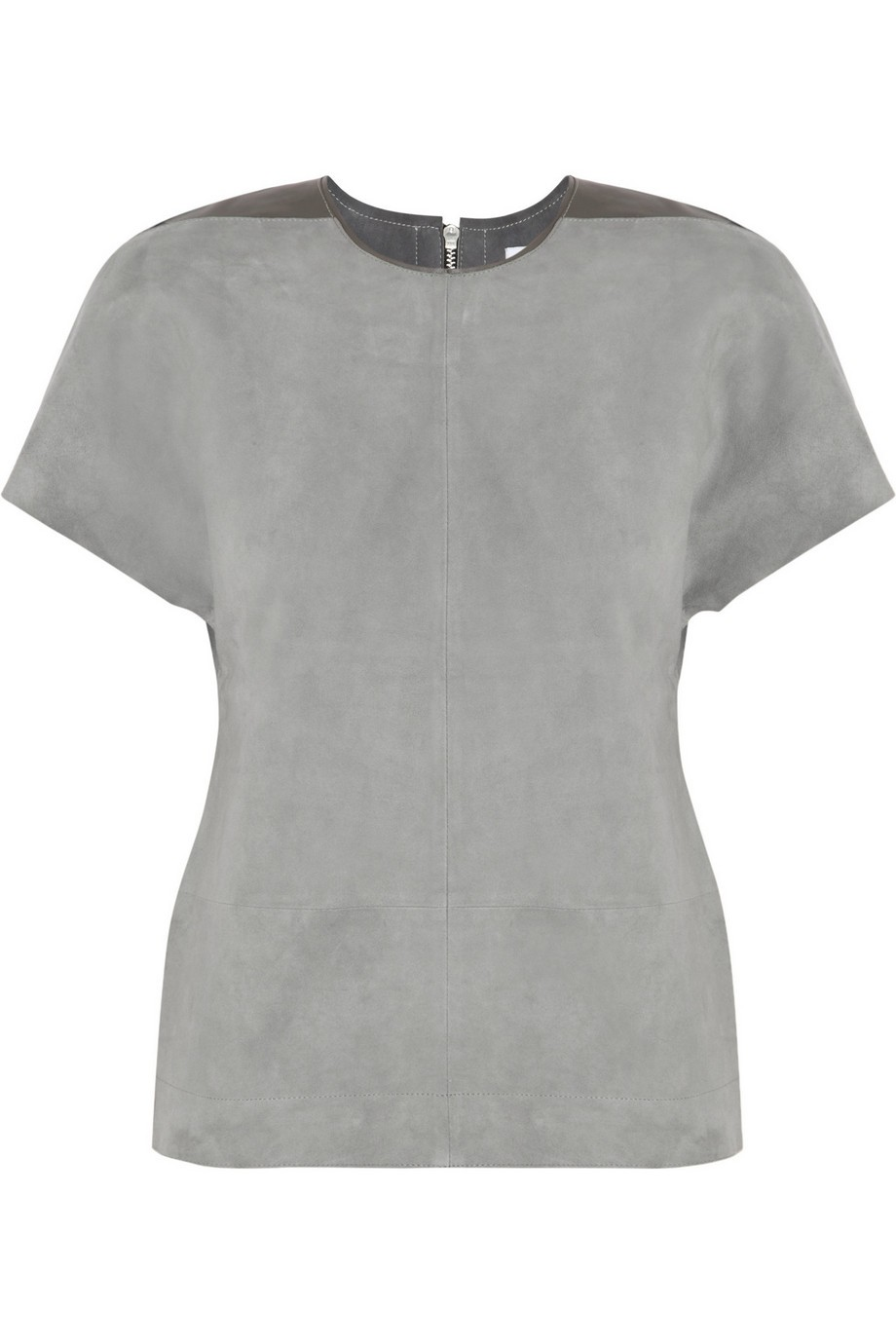 Freya suede and leather top